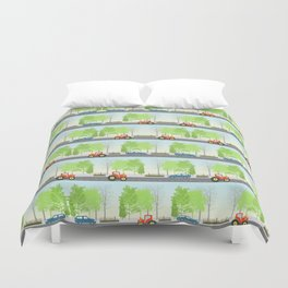 Cars and trees pattern Duvet Cover