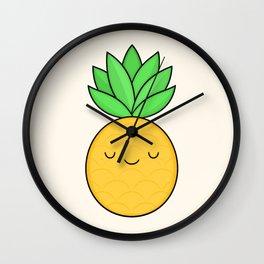 Happy Pineapple Wall Clock