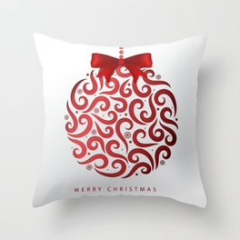 Decorative Christmas Ornament Pattern Throw Pillow