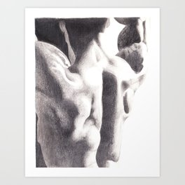 Man Back II Art Print