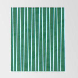 Between the Trees Forest Green, Green & Blue #811 Throw Blanket