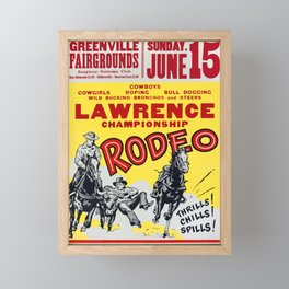 Lawrence Championship Rodeo Framed Mini Art Print