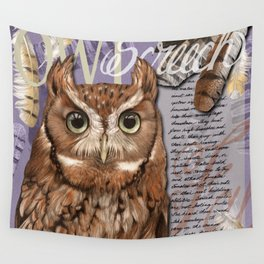 The Screech Owl Journal Wall Tapestry