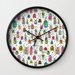 Colorful Watercolor Bugs Wall Clock