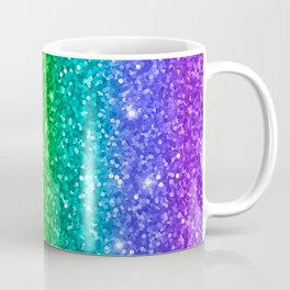 Glitter Rainbow Pattern Coffee Mug