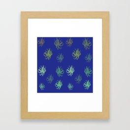 Octopus - Pattern1 Framed Art Print