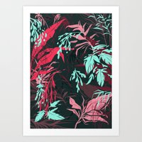 jungle Art Prints featuring Jungle by theroyalbubblemaker