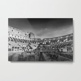 The Coliseum or Flavian Amphitheatre, Rome, Italy Metal Print