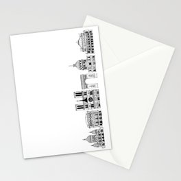 Paris architecture illustration Stationery Cards