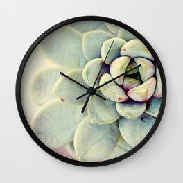Succulent Flower Wall Clock