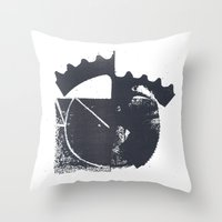 industrial Throw Pillows featuring Industrial by Lucas del Río