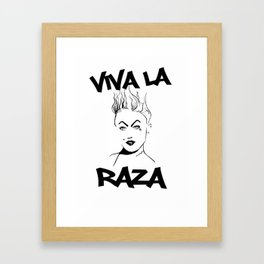 Viva La Raza Miley  Framed Art Print