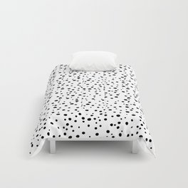 PolkaDots-Black on White Comforters
