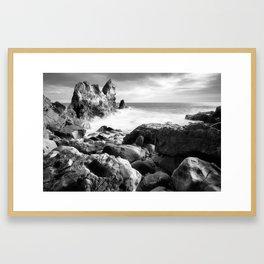 Corona del Mar beach in Southern California Framed Art Print