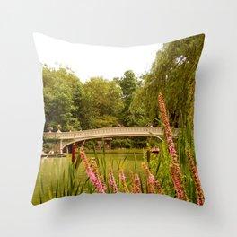 Beau Bow Bridge (Central Park, New York) Throw Pillow
