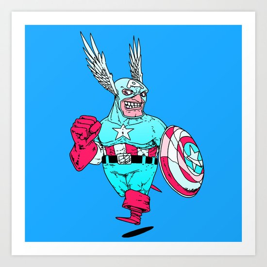 Captain 'Merica Art Print
