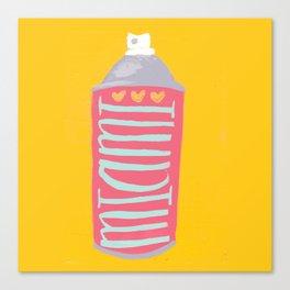 Miami spray paint Canvas Print