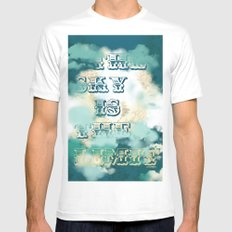 The Sky is the Limit SMALL White Mens Fitted Tee