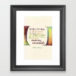 Inspiring Curiosity Framed Art Print