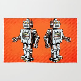 Retro Robot Toy Rug