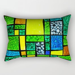 Abstract, qubism, square, Resurrection, Easter Sunday, tomb, Jesus, Christ Rectangular Pillow