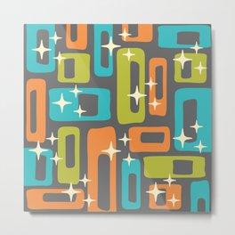 Retro Mid Century Modern Abstract Pattern 634 Metal Print