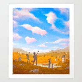 Cloud Spotting Art Print