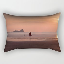 Pastel Sunset at Rhossili Bay Rectangular Pillow
