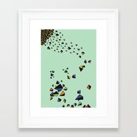 triangles Framed Art Prints featuring Triangles by Jarvis Glasses
