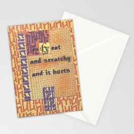 The Weather Today...is Heat and Scratchy and It Hurts Stationery Cards