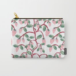 Strawberry Jungles Carry-All Pouch