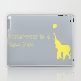 Elephant with Balloon: Tomorrow is a New Day Laptop & iPad Skin
