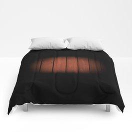 Brown dark boards texture Comforters