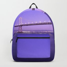 San Francisco - Oakland Bay Bridge at Night Backpack