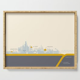 """City on a """"Plate"""" Serving Tray"""