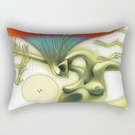 De los vuelos | Of flights { n°_ 002 } Rectangular Pillow