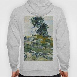 The Rocks by Vincent van Gogh Hoody