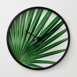 Palm Leaf Detail Wall Clock