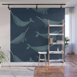 Thrym Pattern - Blue Wall Mural