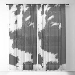 Rustic Cowhide Sheer Curtain