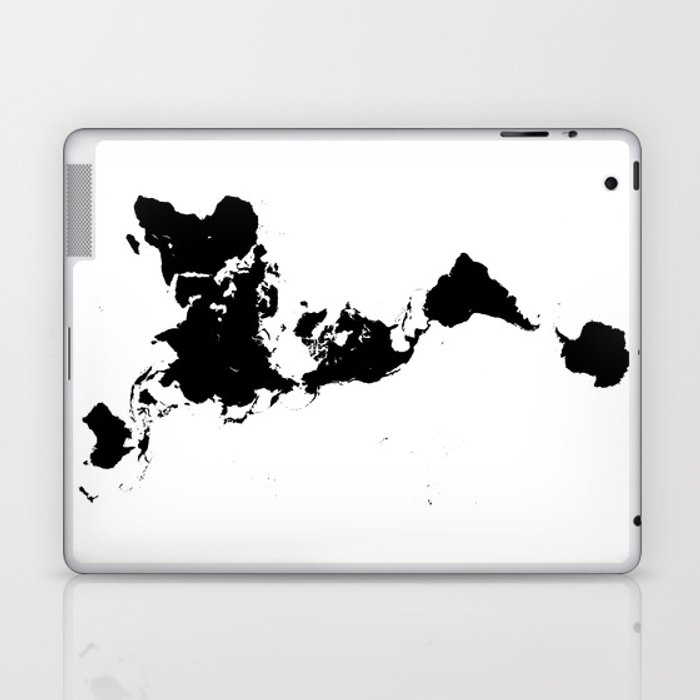 Dymaxion world map fuller projection map minimalist black on dymaxion world map fuller projection map minimalist black on white laptop ipad gumiabroncs Images