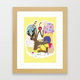 Ice Cream Mountain Framed Art Print