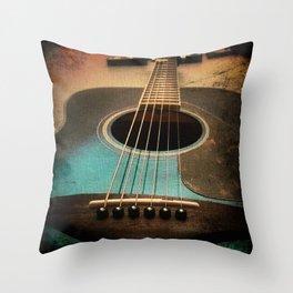 Midnight Strum Throw Pillow