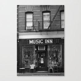 'Music Inn' New York Canvas Print