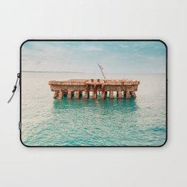 Crash Boat Beach Laptop Sleeve