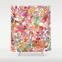 watercolor meadow Shower Curtain