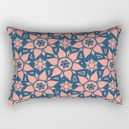 Star Flowers Pattern 23 Rectangular Pillow