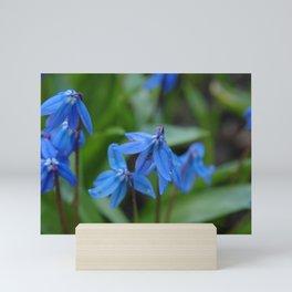 Blue Flowers 1 Mini Art Print