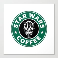 Star Wars Coffee (Darth Maul) Canvas Print