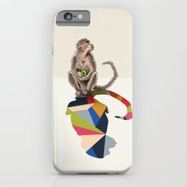 Walking Shadow, Monkey iPhone Case